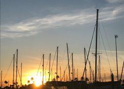 Kemah Marina at sunset